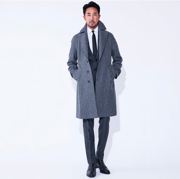 TPS_Single Belted Coat<br>Col.Gray