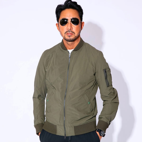 4Way Stretch MA-1 Flight Jacket KHAKI