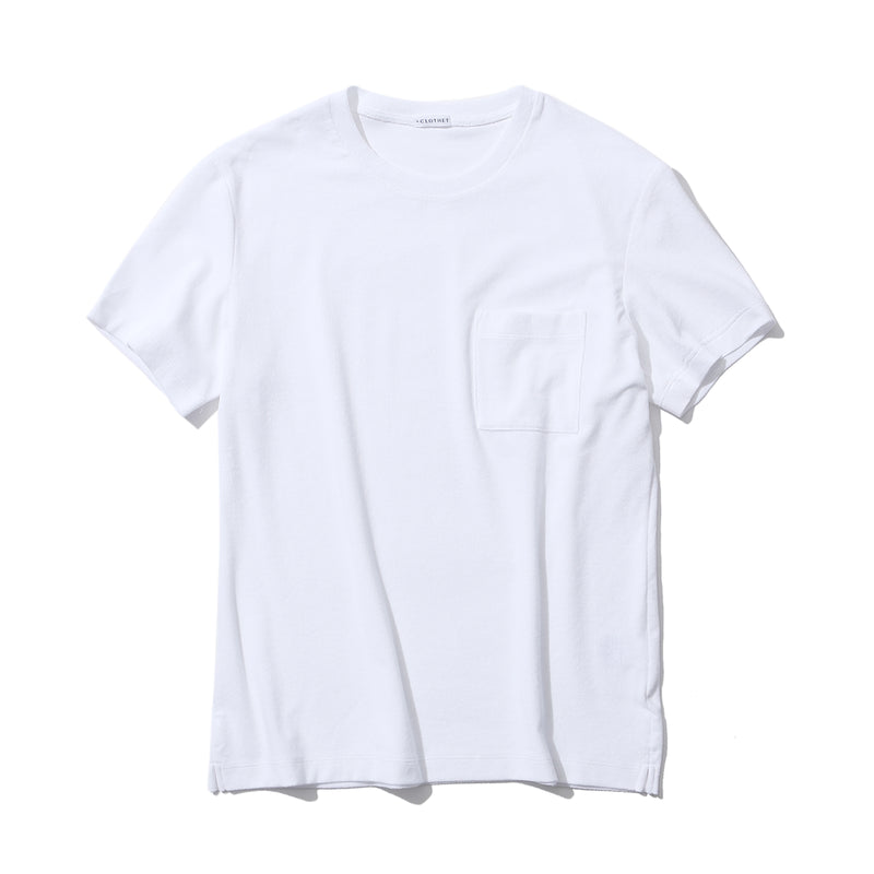 Suvin Platinum Micro Pile Pocket T-shirts<br>Color: White