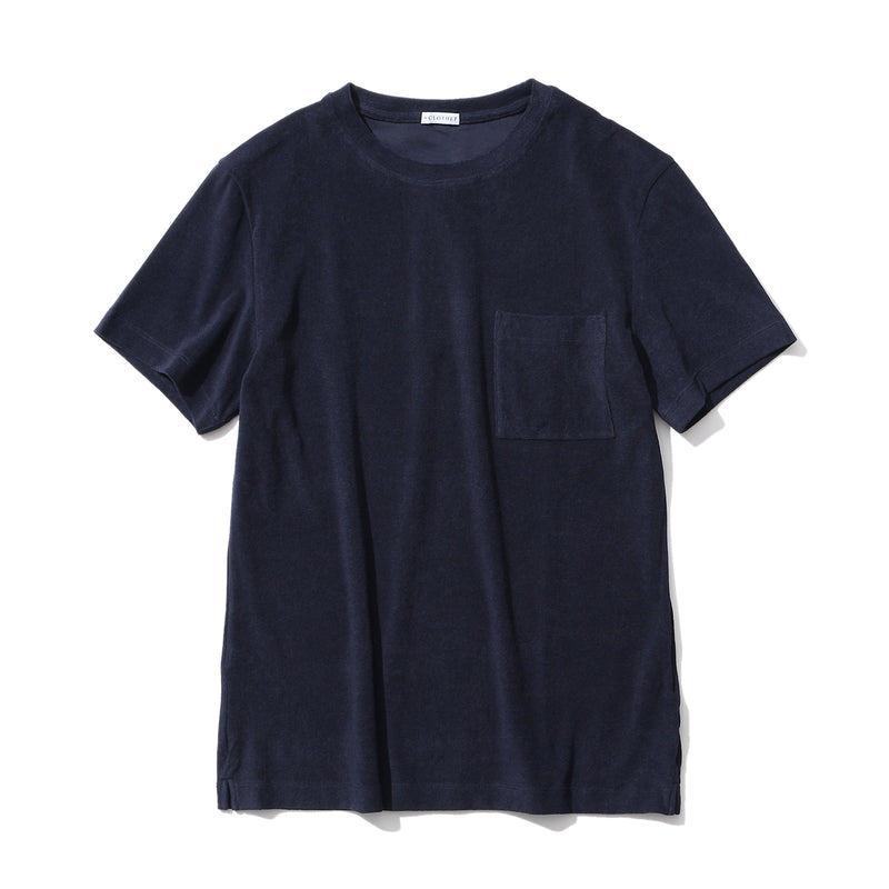Suvin Platinum Micro Pile Pocket T-shirts<br>Color: Navy