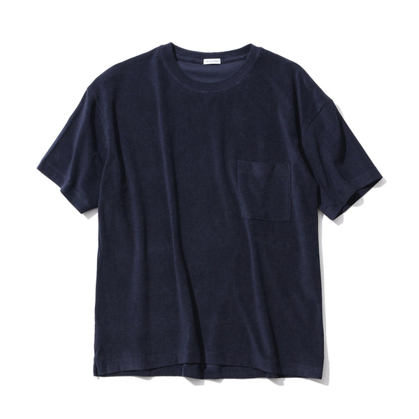 PRE ORDER <br>Suvin Platinum Micro Pile Big T-Shirt<br>Color: Navy<br>※4月末頃発送予定