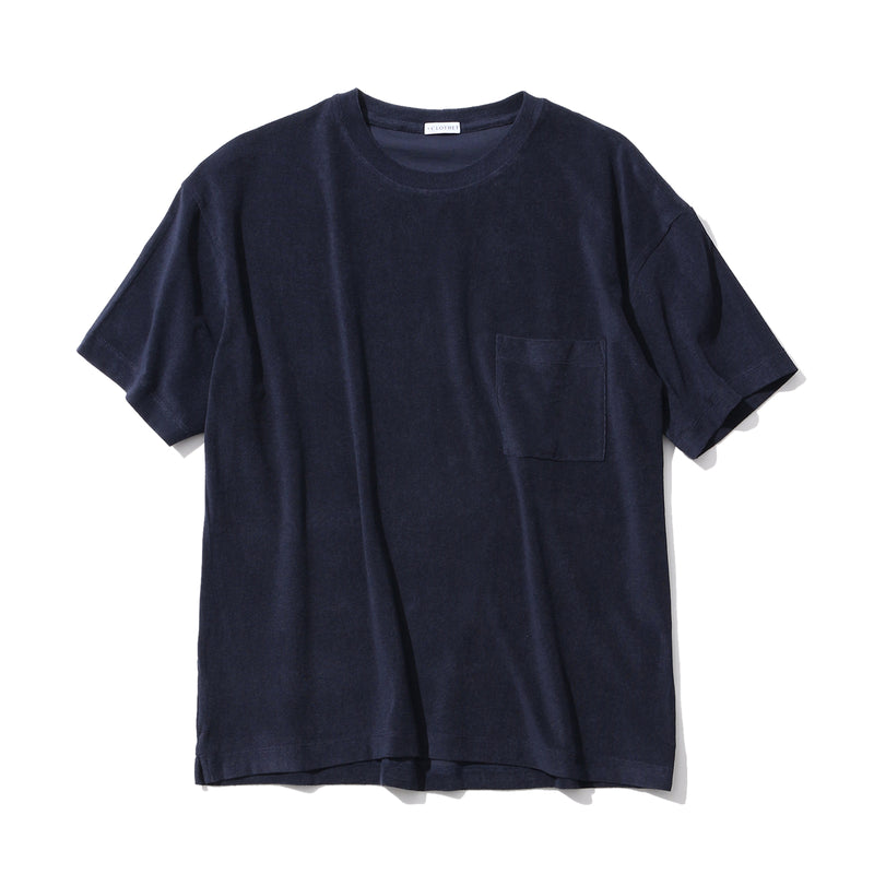 Suvin Platinum Micro Pile Big T-Shirt<br>Color: Navy