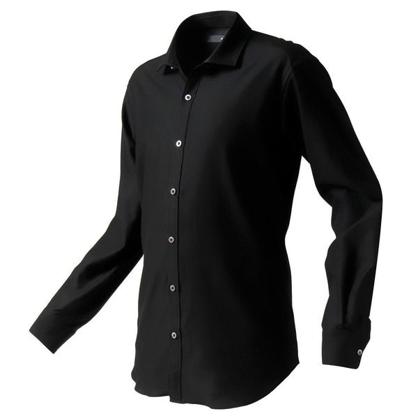 PRE ORDER<br>Knit dress shirts _mode type<br>Col.Black