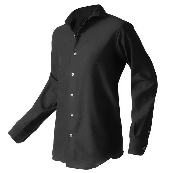 PRE ORDER<br>Knit dress shirts _classic type<br>Col.Black