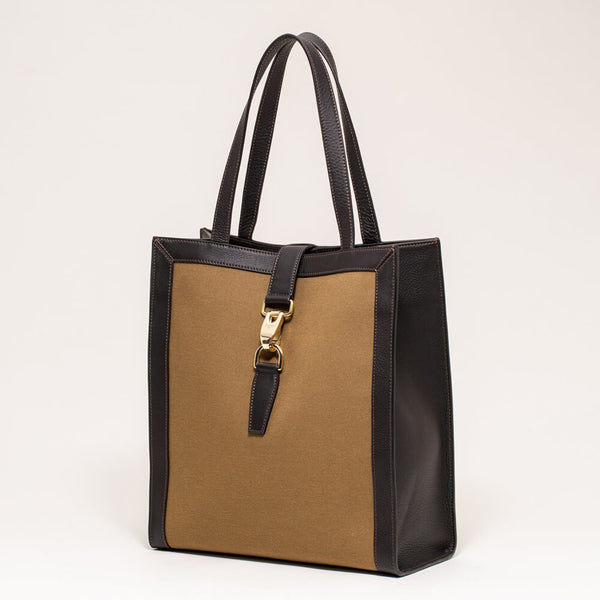Canvas Vertical Tote Khaki