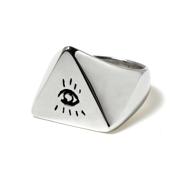 【受注終了しました】<br>PRE ORDER<br>Large Illuminati Eyes Ring<br>925 Silver