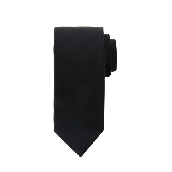 Loro Piana Super150's Wool Tie<br>Color:Black