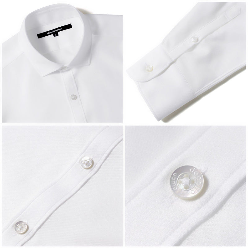 PRE ORDER<br>Knit dress shirts _mode type<br>Col.White
