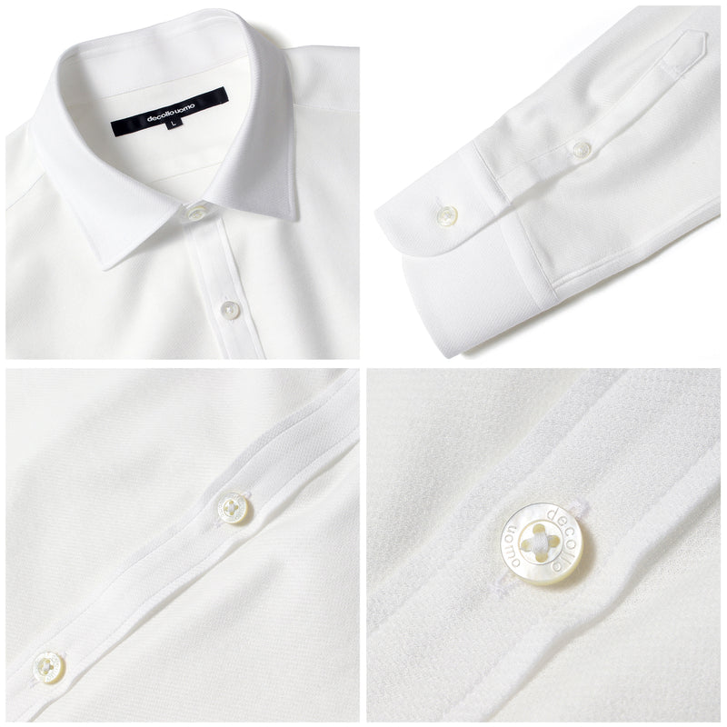 PRE ORDER<br>Knit dress shirts _standard type<br>Col.White