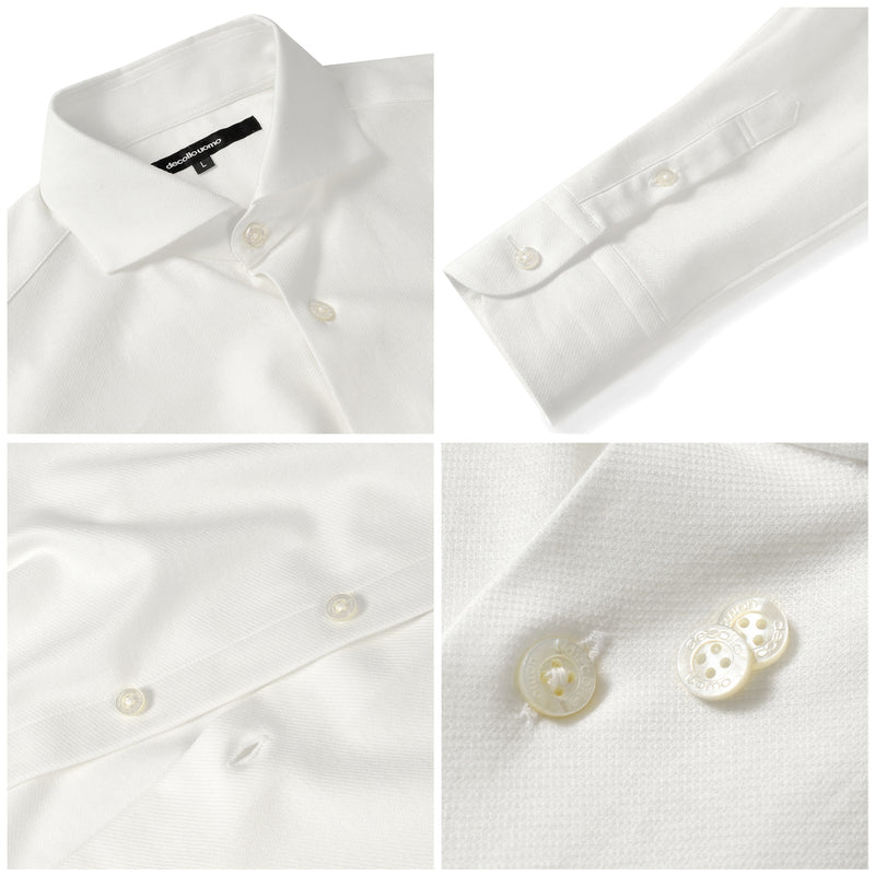 PRE ORDER<br>Knit dress shirts _classic type<br>Col.White