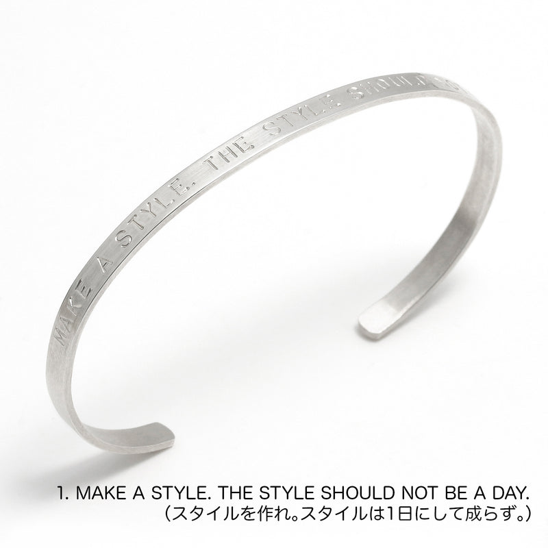 Collaboration Bangle  Silver 925
