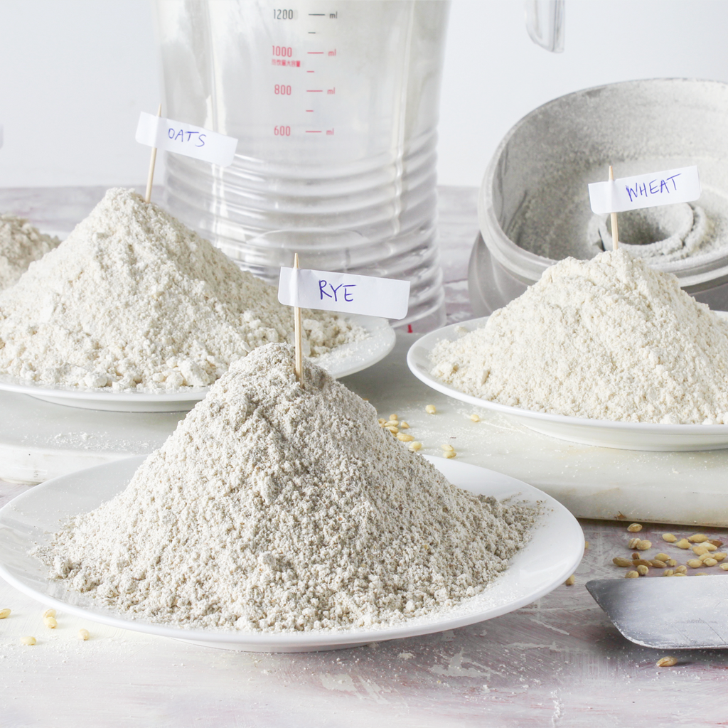 Grinding whole-grains into flour with a blender is easy