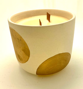 Large Polka Dot Candle