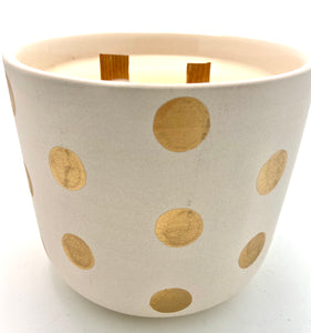 Multiple Polka dot candle
