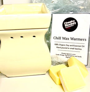 Chill Candle Wax Melts with a Large Ceramic Wax Melter