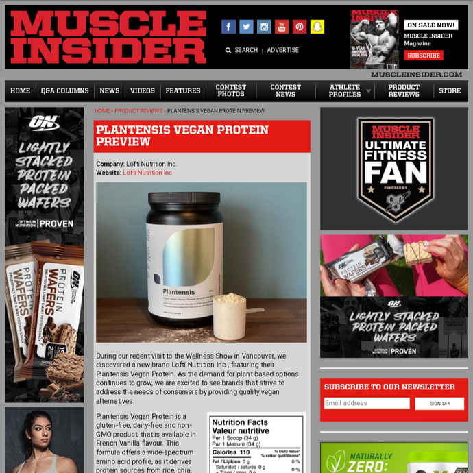 Muscle Insider's Latest Review featuring Plantensis