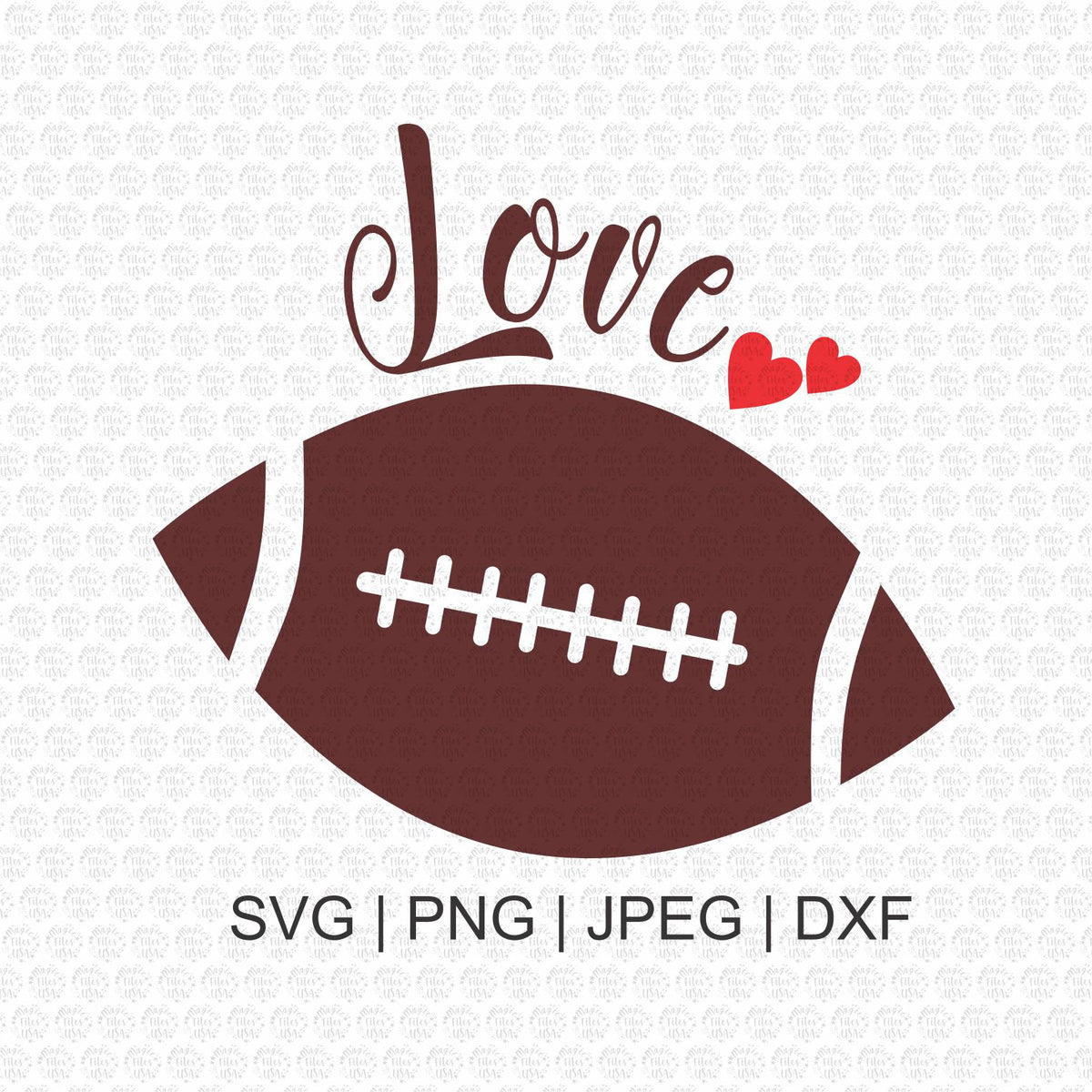 Download Football Love Svg, Svg Files , Football Love, Silhouette ...