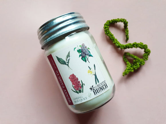 The Rustic Bunch Spring Bouquet Candle 10 oz | Limited Batch Seasonal