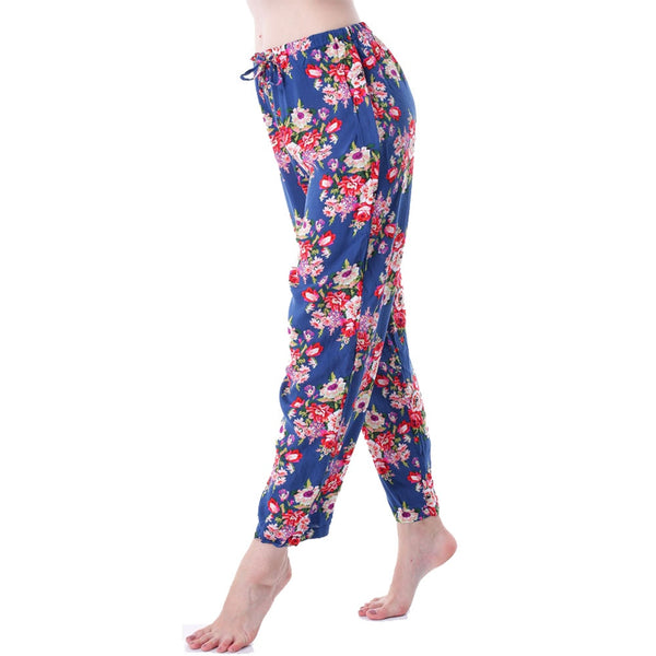 Women Bathrobe Pant Cotton Flower Pajamas