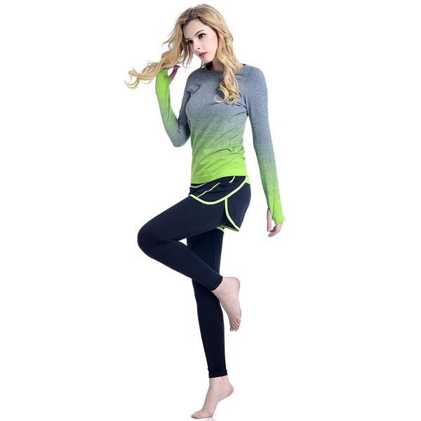 Women's Long Sleeve Seamless Yoga Set