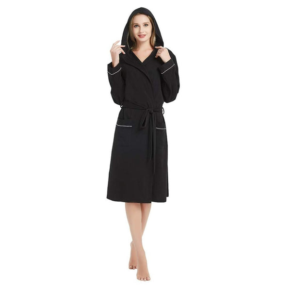 Women Bathrobe Cotton Pajamas Nightgown