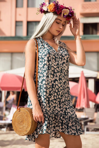 Lanikai Dress in Pineapple Print