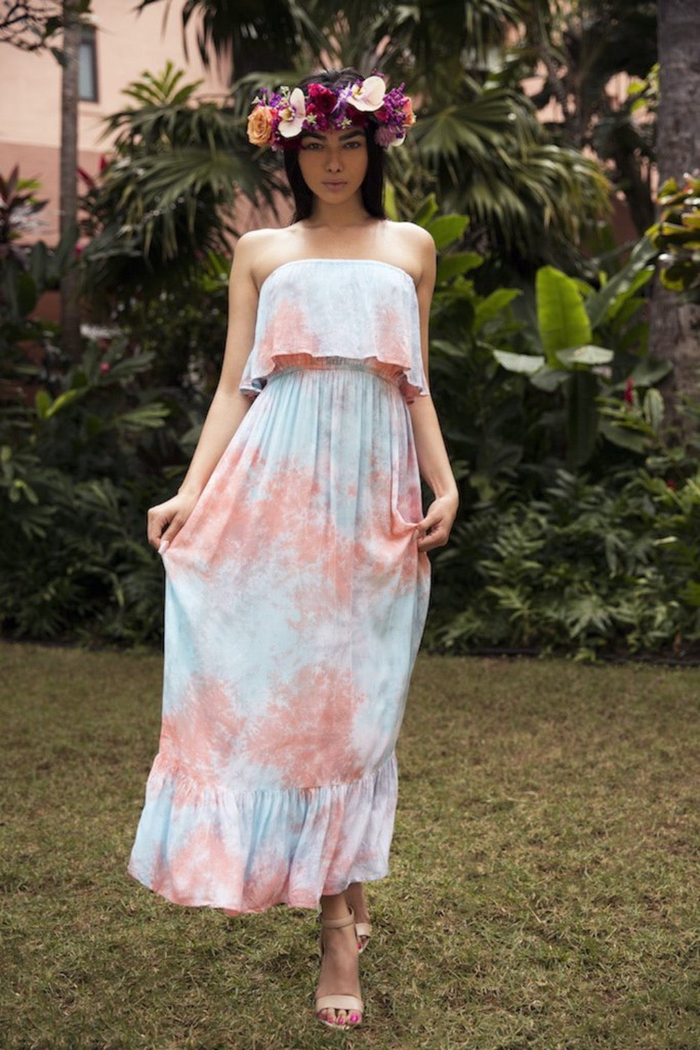 Moana Long Dress in Smoke