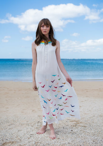 Okika Dress in Pineapple Print