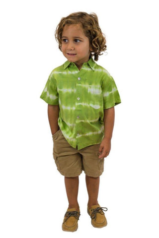 Boys Shirt in Palm Leaves print
