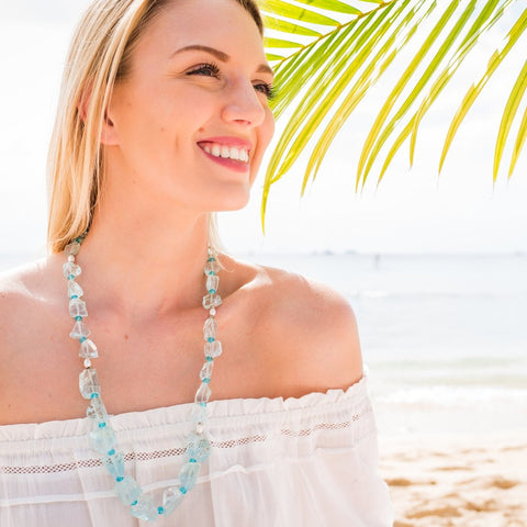 Sea Glass Statement Necklace