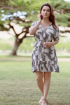 Ala Short Dress in Pineapple Print