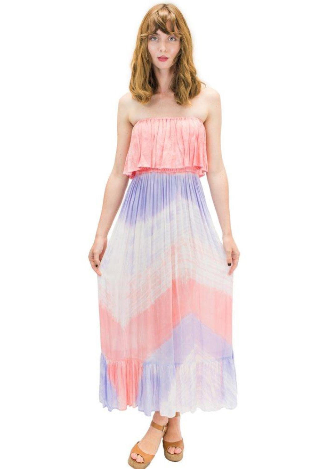 Moana Long Dress in Wave