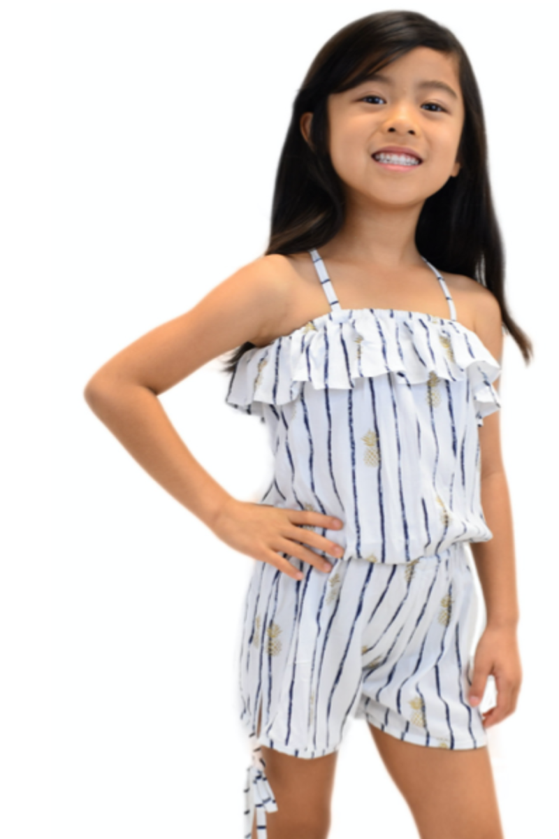 Kids Kalei Romper in Pineapple