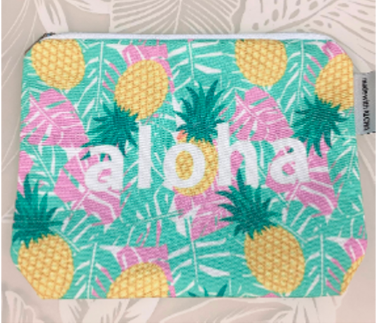 Aloha Monsterra Pineapple Pouch