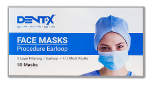 Dent-X Canada ATSM Level 3 Procedure Earloop Masks