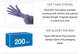 Revo Nitrile Exam Gloves (Case of 10 boxes, 300 count per box)