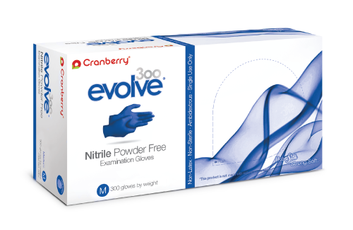 Evolve Nitrile Exam Gloves (Case of 10 boxes, 300 count per box)