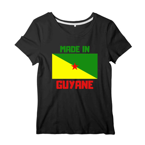 Image of drapeau Made in Guyane T-shirt femme