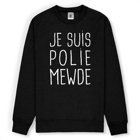 Image of sweat je suis polie mewde