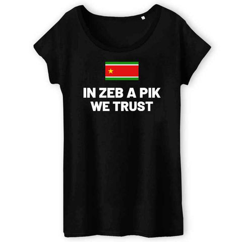 Image of in zeb a pik we trust tshirt femme