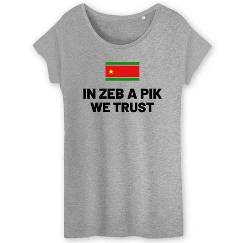 Image of tshirt in zeb a pik we trust femme