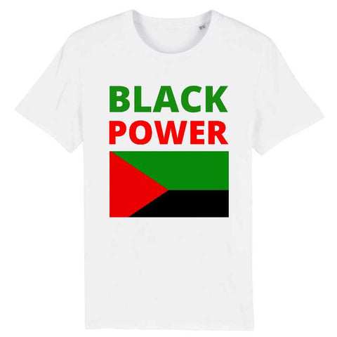 Image of tshirt homme black power martinique madinina