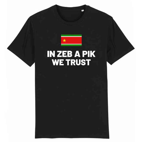 Image of in zeb a pik we trust tshirt homme