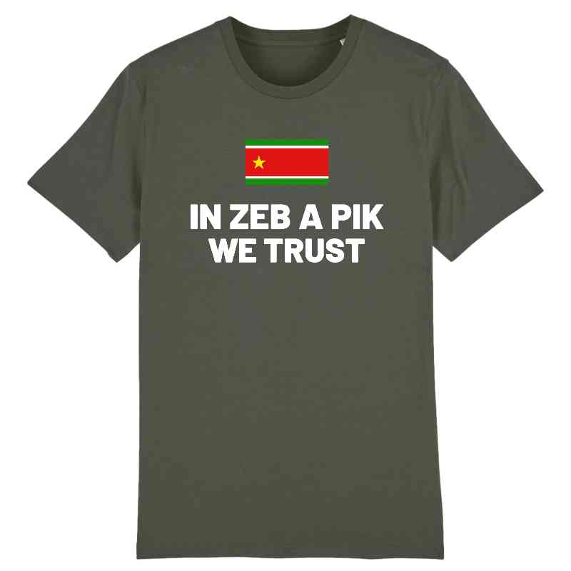 tshirt in zeb a pik we trust homme
