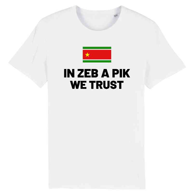 tshirt homme in zeb a pik we trust