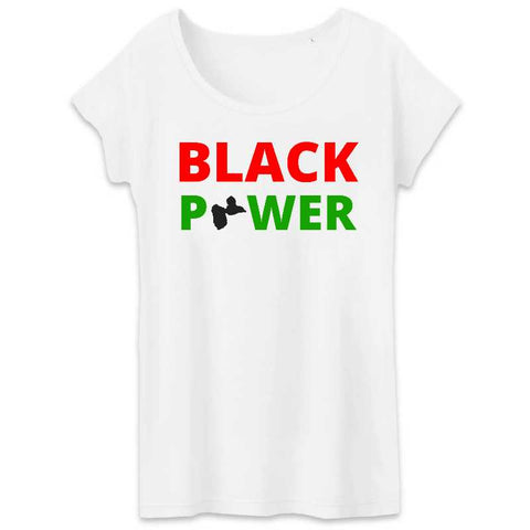 Image of tshirt femme black power guadeloupe