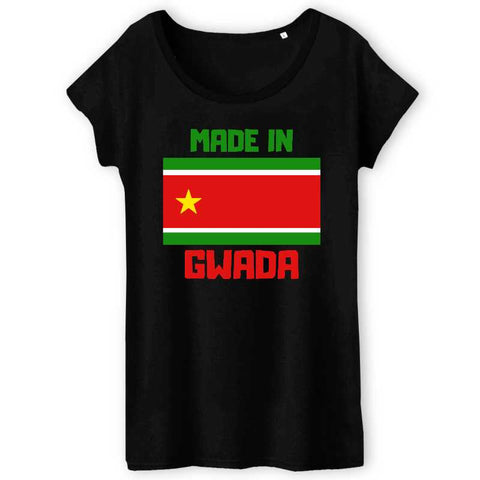 Image of tshirt femme made in gwada