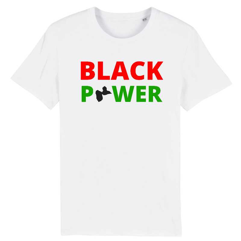 tshirt homme black power guadeloupe