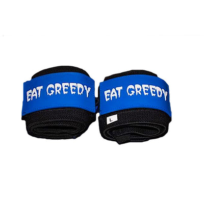 """EAT GREEDY""  18"" Wrist Wraps"