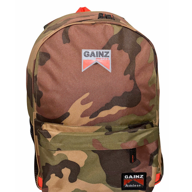 Gainz Sportsgear Camo Gym Bag